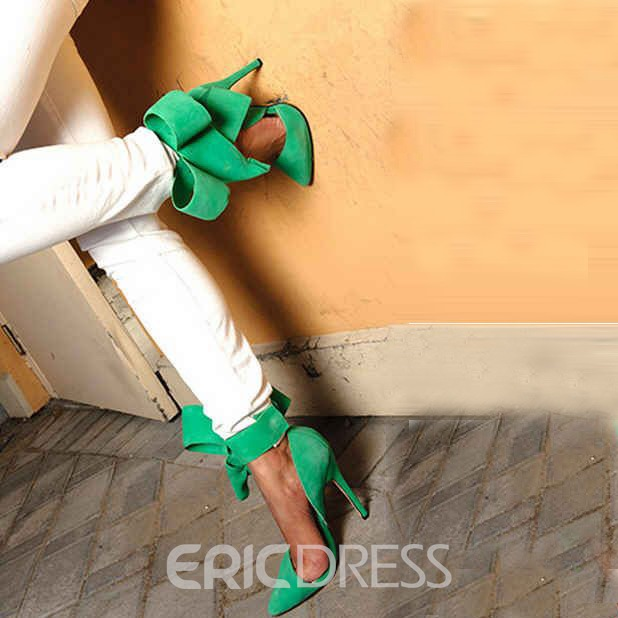 Ericdress Fashion Stiletto Platform High Heel Sandals with Big Bowknot