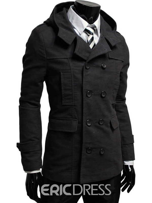 Ericdress Plain Plus Size Vogue Men's Over Coat