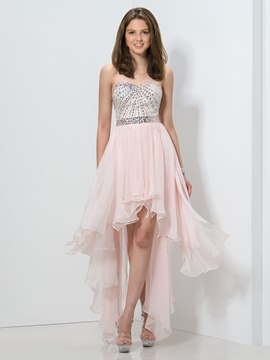 Ericdress A-Line Asymmetrical Length Beaded Homecoming Dress