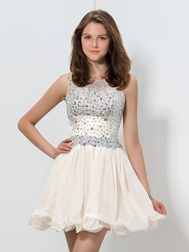 ericdress a-line Juwel Hals Perlen Homecoming Kleid
