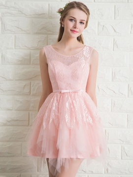 Ericdress dentelle Bowknot court Homecoming robe