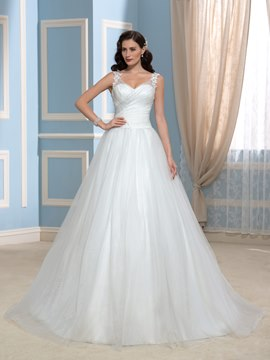 Ericdress Straps Appliques Court Train Wedding Dress