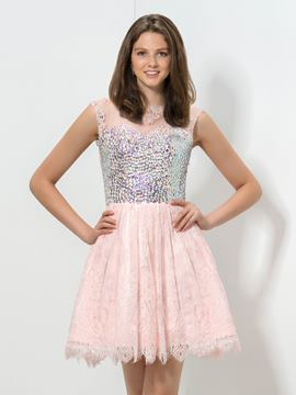 Cou Ericdress bijou perlé Homecoming robe en dentelle