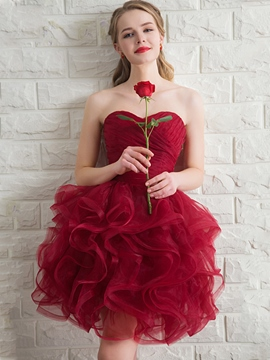 Robe de bal Sweetheart Ericdress ruché Ruffles Dress Homecoming