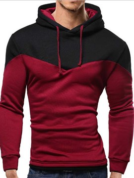 Ericdress Pullover Color Block Men's Hoodie