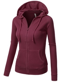Ericdress Zip-Up Long Sleeves Hoodie