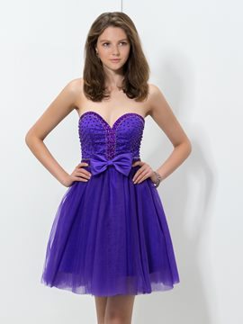 Ericdress Sweetheart perles Bowknot Homecoming robe