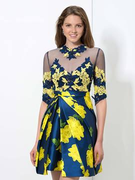 Ericdress A-Line Appliques Print Cocktail Dress
