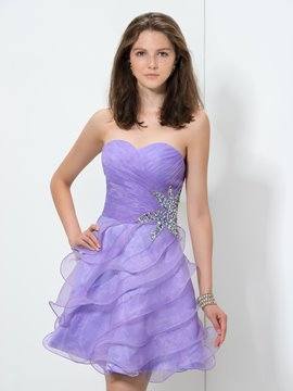 Ericdress Sweetheart Ruffles Sequins Short Homecoming Dress