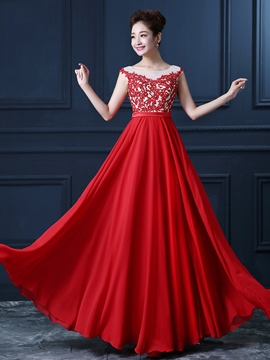 Ericdress A-Line Appliques Sequins Evening Dress