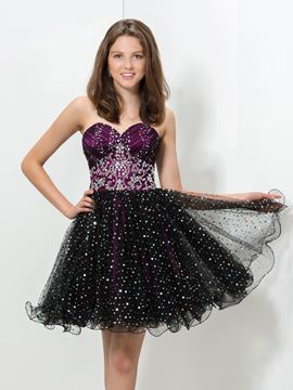 Ericdress a-line volants paillettes perles Homecoming robe