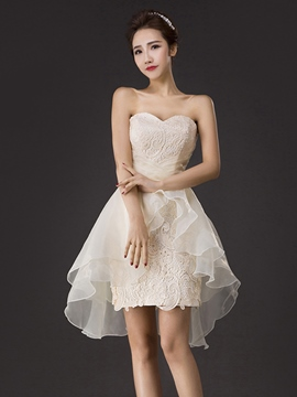 Ericdress Sweetheart Neckline Sheath Lace Ruffles Homecoming Dress