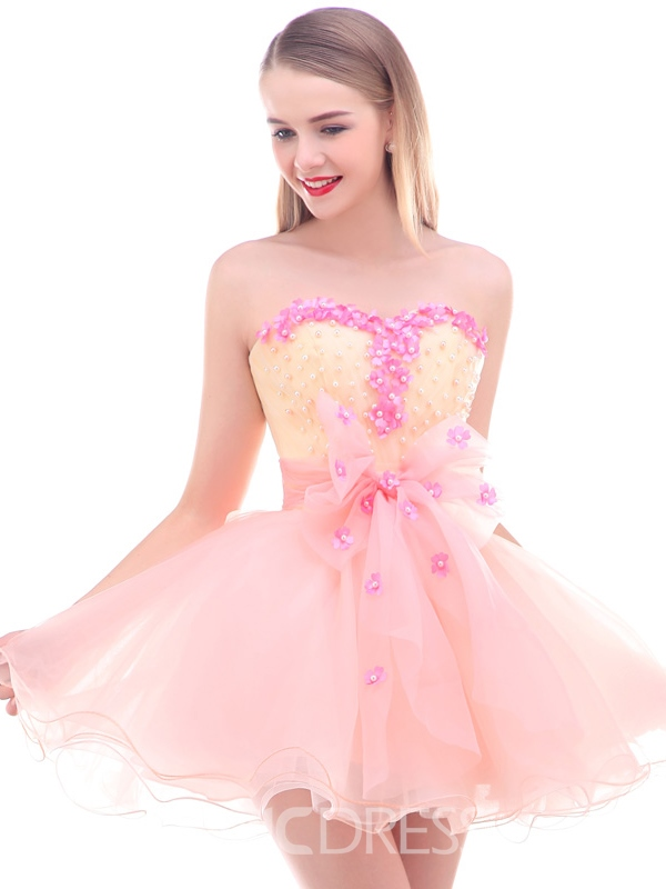 Ericdress Sweetheart A-Line Flowers Homecoming Dress