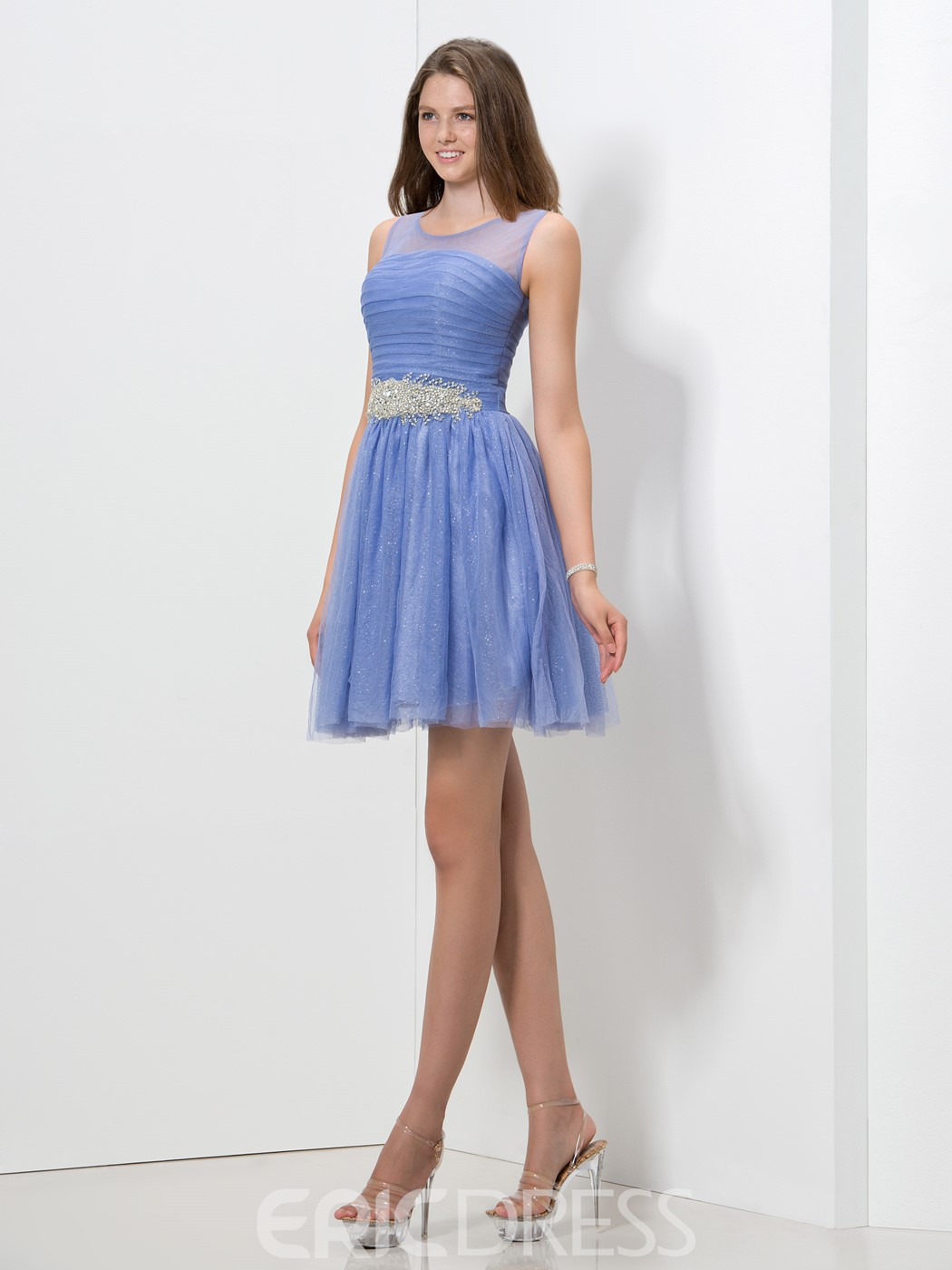 Ericdress A-Line Sequins Beaded Homecoming Dress