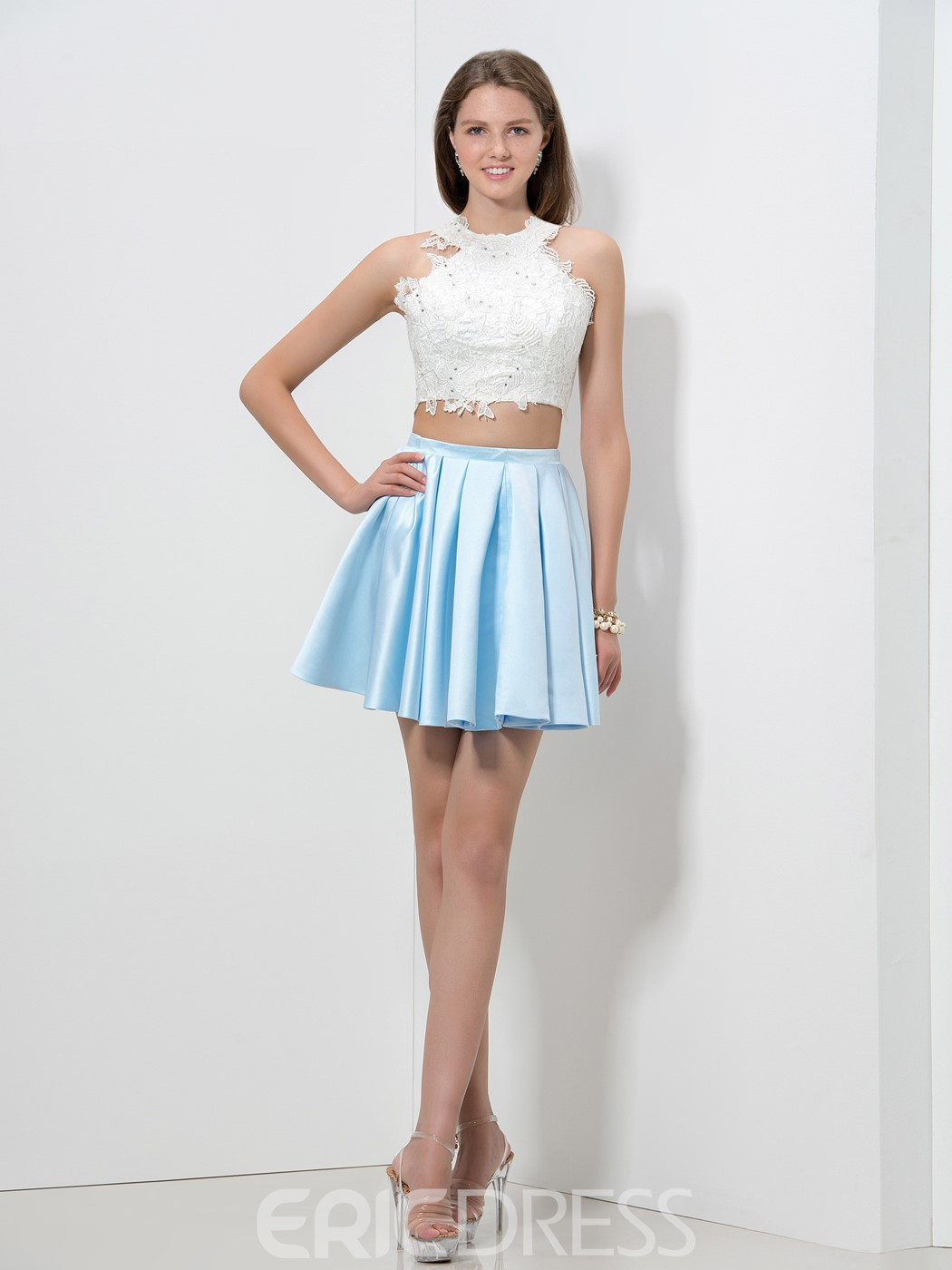 Ericdress Lace Sequins Two-Piece Homecoming Dress