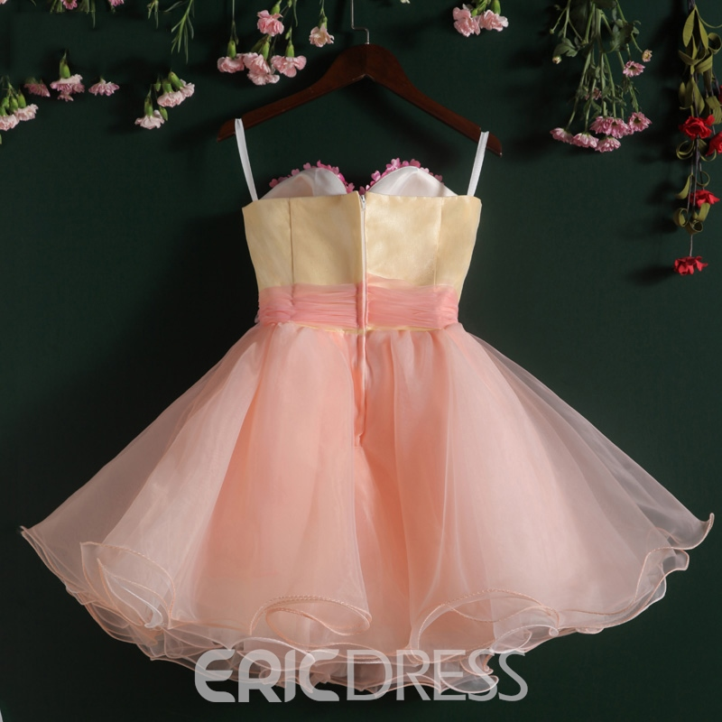 Ericdress Sweetheart Flowers Pearls Short Homecoming Dress