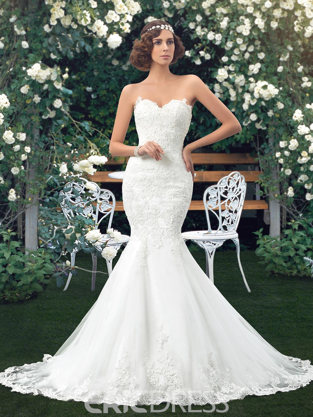 Wedding Dress Sweetheart Applique Mermaid 11176047 - Ericdress.com