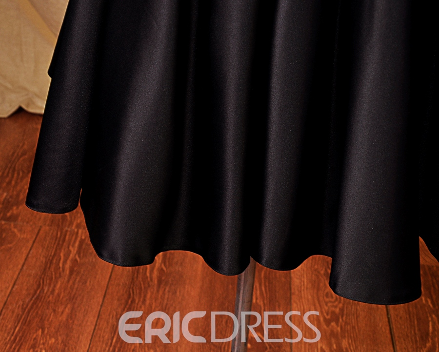 Ericdress Deep-V Neck Beaded Short Cocktail Dress