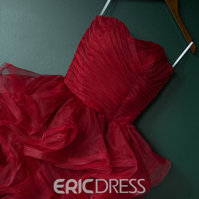 Ericdress Sweetheart Ball Gown Ruched Ruffles Homecoming Dress
