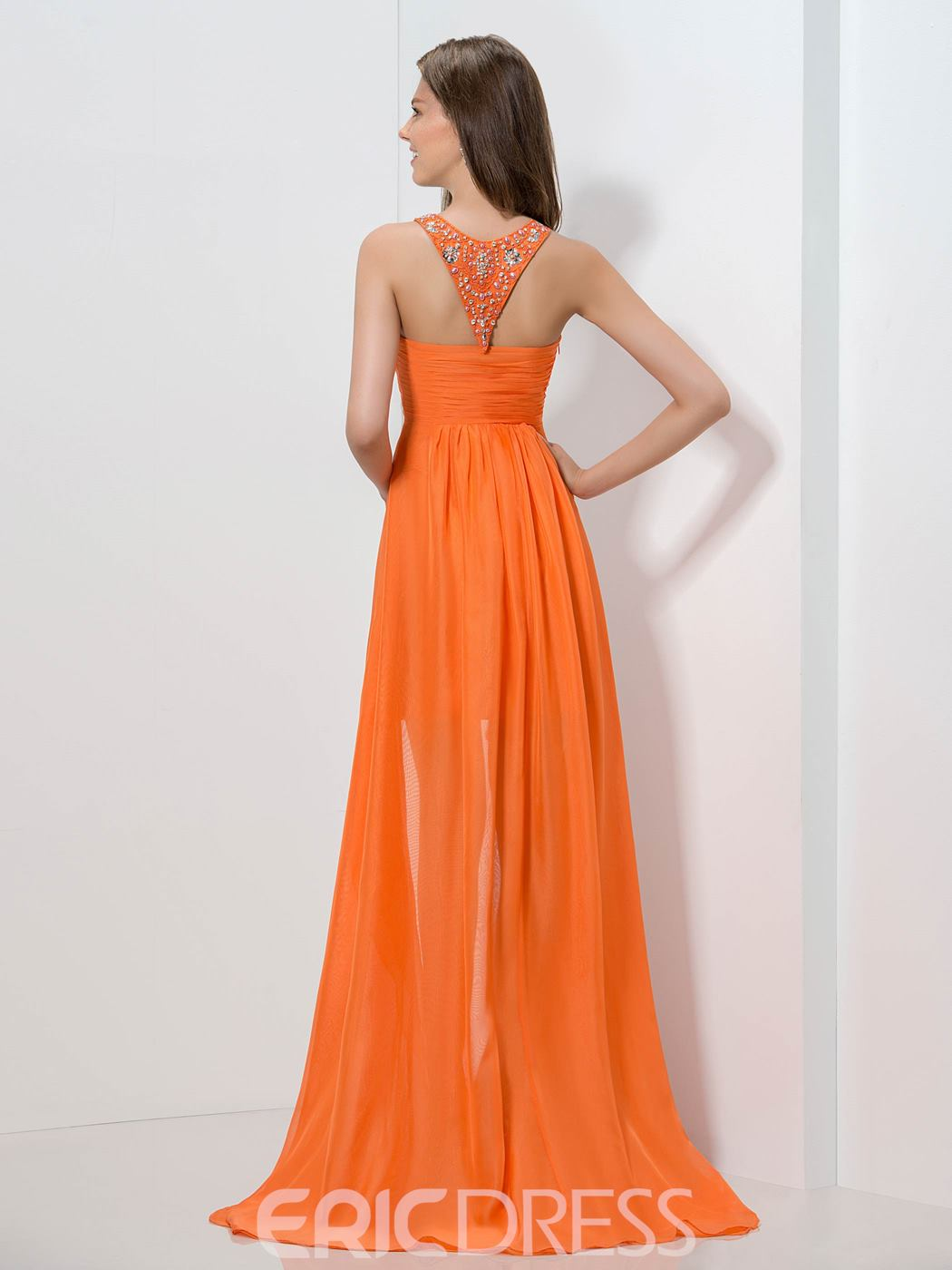 Ericdress A-Line Beaded Asymetrical Length Homecoming Dress