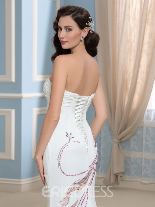 Ericdress Sweetheart Embroidery Sequins Mermaid Wedding Dress