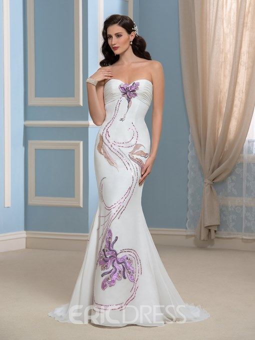 Ericdress Fancy Sweetheart Pattern Mermaid Wedding Dress