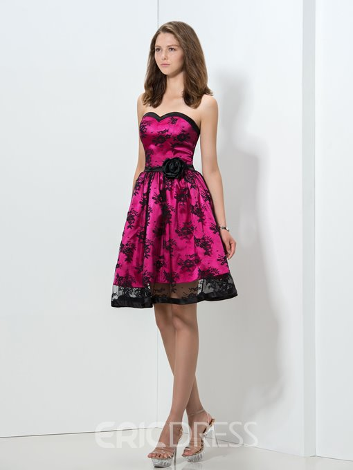 Ericdress Sweetheart Lace Short Homecoming Dress