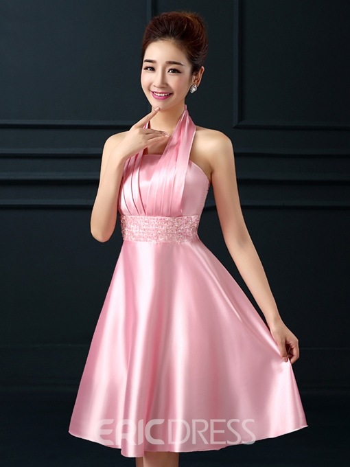 Ericdress Halter Sequins A-Line Homecoming Dress