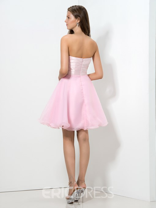 Ericdress Sweetheart Bowknot Sequins Homecoming Dress