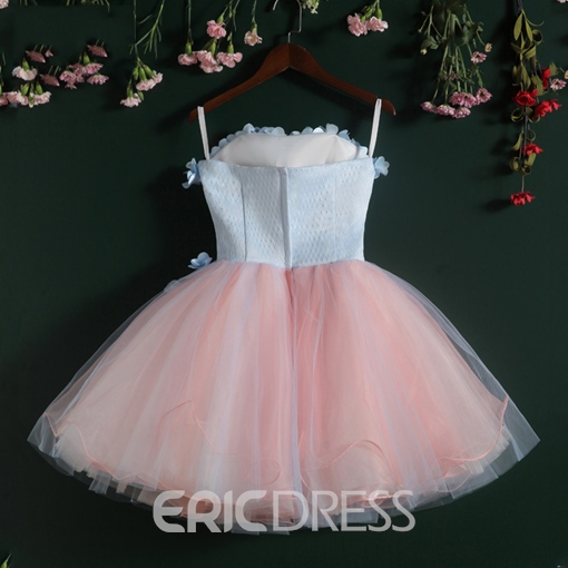 Ericdress Strapless A-Line Flowers Short Homecoming Dress