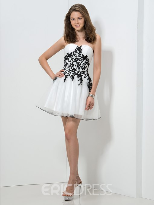 Ericdress A-Line Sweetheart Appliques Homecoming Dress