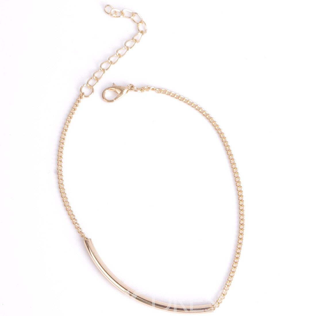 Concise Single Metal Chain Anklet