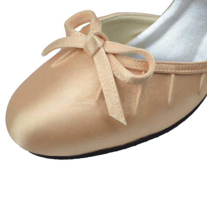 Ericdress Champagne Wedding Shoes with Bowtie