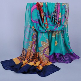 Classic Cashew Printed Voile Hijab Shawl