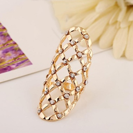 Hollow-out Style Shining Female Ring