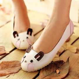Ericdress Cute Patchwork Mouse Shape Flats