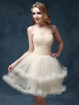 Ericdress a-ligne Sweetheart dentelle Mini Homecoming robe