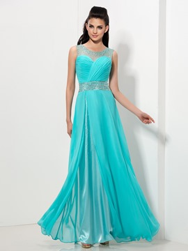 Ericdress Sheer Neck Sequins Pleats Prom Dress