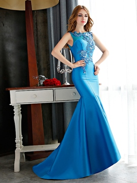 Ericdress Appliques Court Train Mermaid Evening Dress
