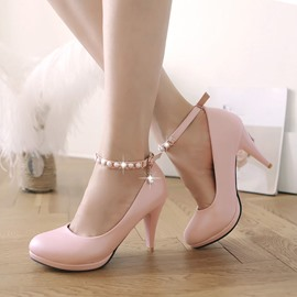 Ericdress Amazing Pearl Ankle Strap Pumps