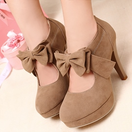 Ericdress Elegant Suede Pumps with Bowtie