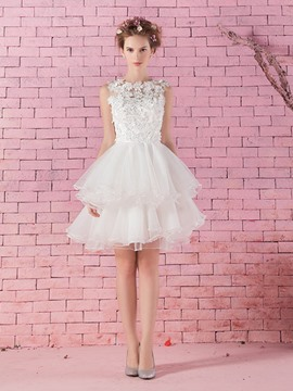 Ericdress Pretty Flowers Short Wedding Dress