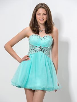 Ericdress Sweetheart Perlen Falten Homecoming Kleid