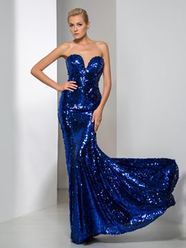 Ericdress Sweetheart Sequins Mermaid Evening Dress