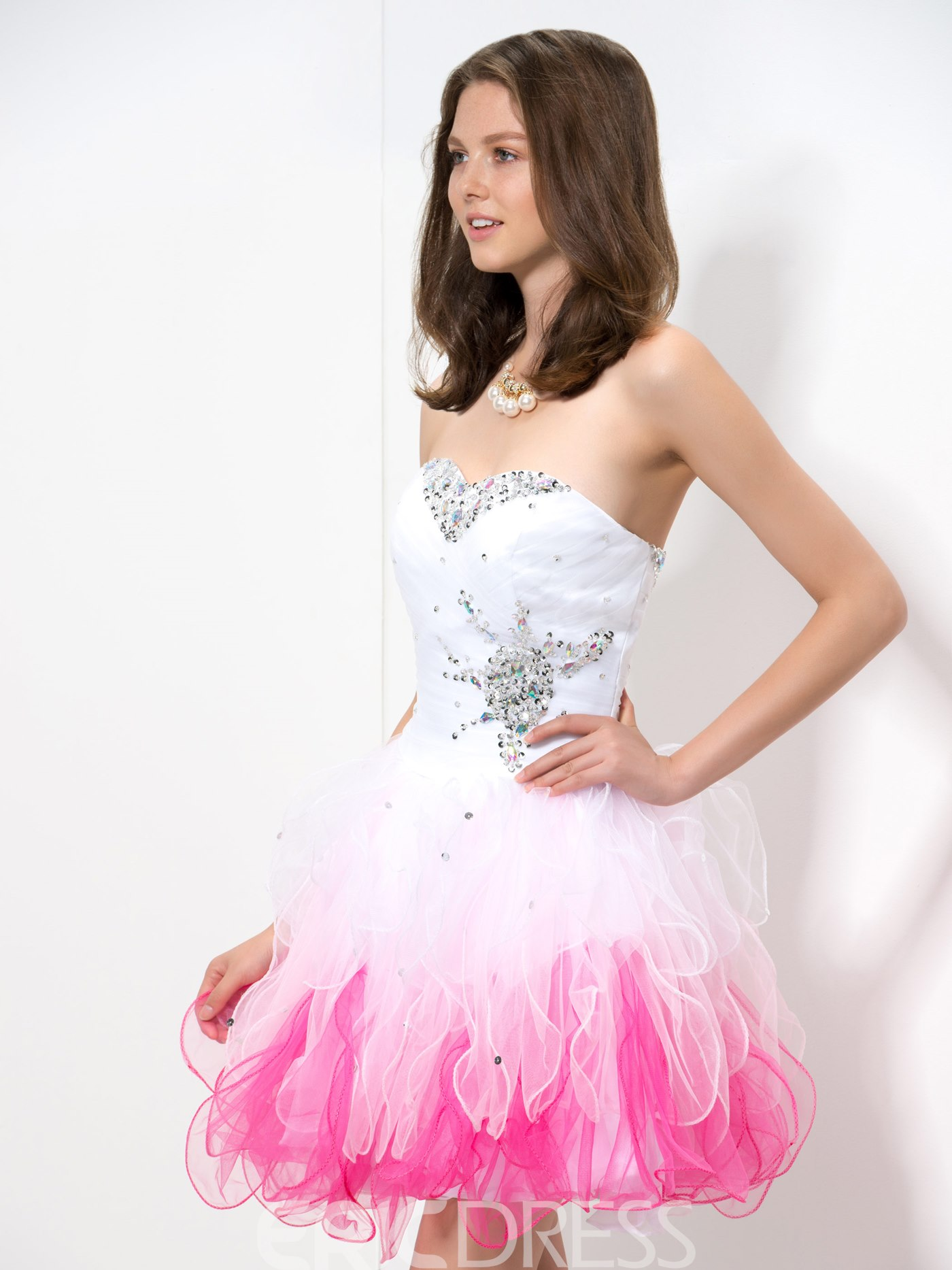 Ericdress Sweetheart Gradient Short Homecoming Dress
