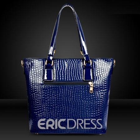 Ericdress European Plain PU Rectangle Tote Bags