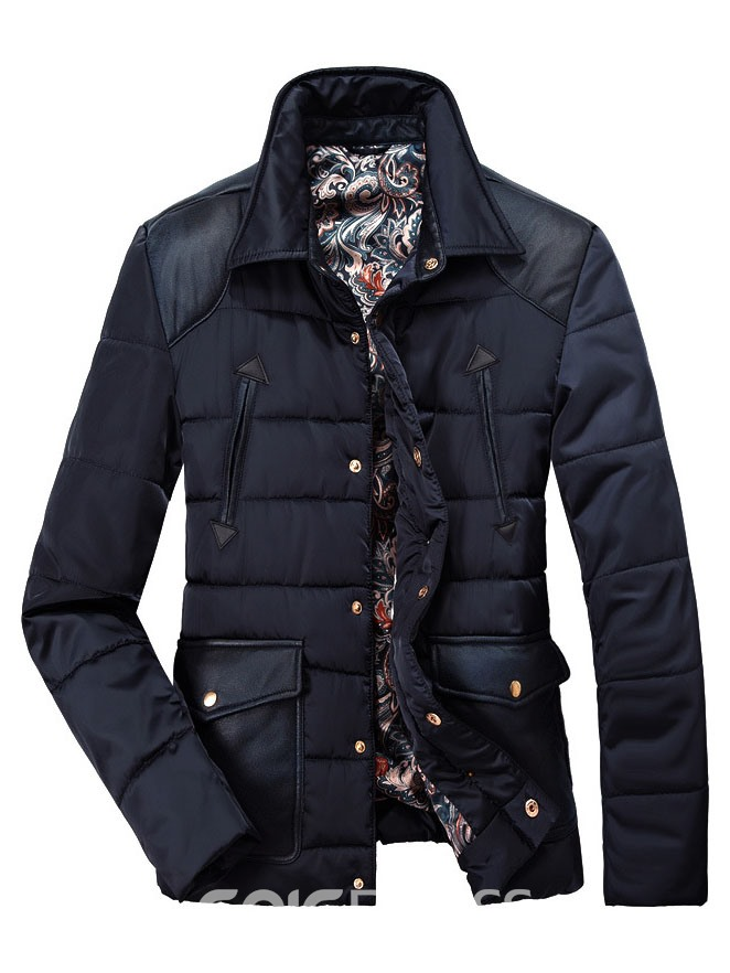 Ericdress Single-Breasted with Pocket Men's Cotton Coat