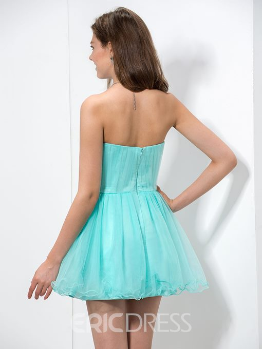 Ericdress Sweetheart Beaded Pleats Homecoming Dress
