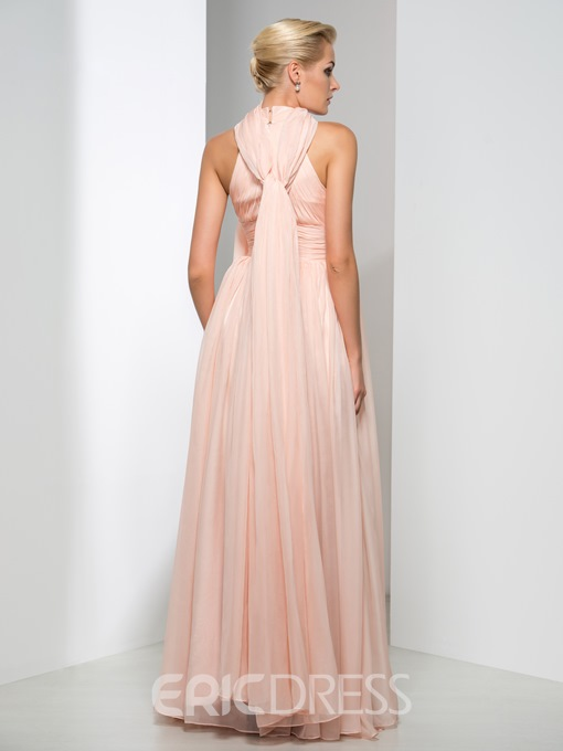 Ericdress Concise A-Line Ribbon Long Evening Dress
