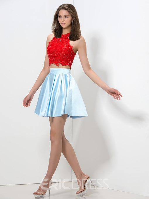 Ericdress Lace Sequins Two Piece Homecoming Dress
